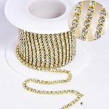 10 yardas/rollo SS6-SS18 Cristal brillante para coser en diamantes de imitación Cadena de copa con adornos de diamantes de imitación para ropa