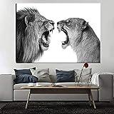 Löwe der modernen Kunst für Wohnzimmerdekoration Plakate