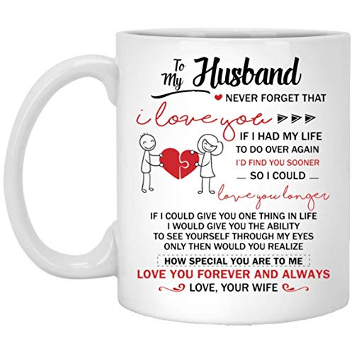 to My Husband Never Forget That I Love You Love You Forever and Always Love Your Wife Mug