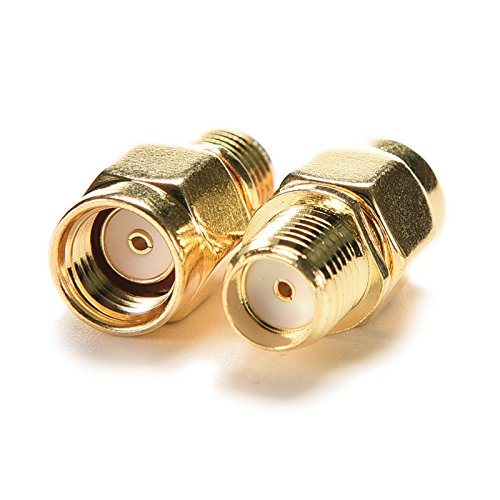 CCYO Pack of 2pcs RF coaxial Coax Adapter SMA Female to RP-SMA Male,SMA Adapters Both Ends Hole Center