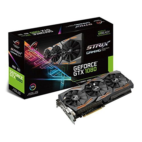Asus ROG Strix GeForce GTX1080-8G Gaming Grafikkarte (Nvidia, PCIe 3.0, 8GB DDR5X Speicher, HDMI, DVI, DisplayPort)