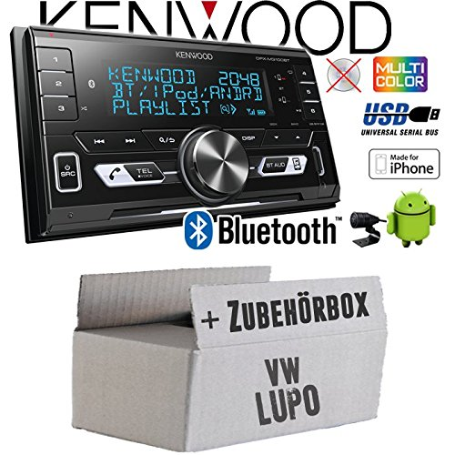 Autoradio Radio Kenwood DPX-M3100BT - 2-DIN Bluetooth USB VarioColor Einbauzubehör - Einbauset für VW Lupo - JUST SOUND best choice for caraudio