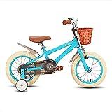 STITCH Vélo pour enfants de 3 à 5 ans avec roues d'entraînement et freins à main Bleu 40,6 cm