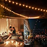 LED Lichterkette Außen Solar,Balippe 8.9M Lichterkette Glühbirne mit 28er+2er,Solar lichterkette Aussen IP55 Wasserdicht 4 Modus für Garten, Hochzeit, Balkon, Haus, Party, Weihnachten Deko, Warmweiß - 7