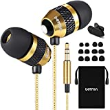 Betron B25 Earphones, Noise Isolating In-Ear Wired Headphones with Powerful Bass and Pure