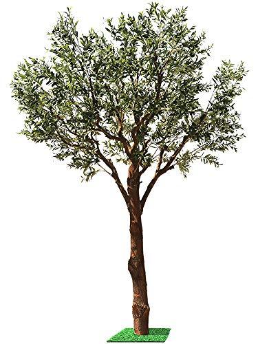 ZJMKFJL Olivenbaum, Topfpflanze, Wohnzimmerboden Innengrünpflanzendekorationsbaum, künstlicher Baum, künstliche Pflanze, künstlicher Baum 1,0 m breit und 0,8 m breit