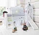 Cabina cama color Blanco Cama litera con Slide & pirata Pete tienda de campaña