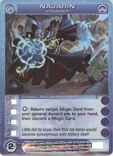Chaotic NAJARIN Super Rare FOIL Creature-Past OverWorld Muge Card # S07/026 (Random Stats)