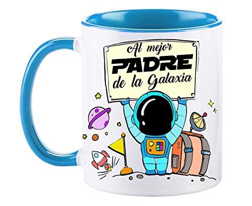 FUNNY CUP Taza Día Padre. Al Mejor Padre Galaxia