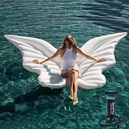 Grist CC Aufblasbare schwimmende Reihe, schwimmendes Bett des Schmetterlingsschwimmbeckens, PVC-Schwimmbeckenliege-Strandschwimmbrett, 250 * 180cm