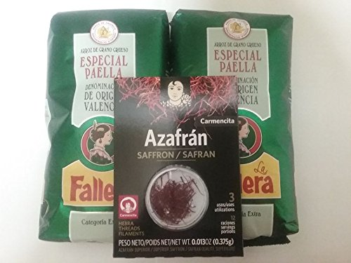 2kg Riso speciale per paella la Fallera + 0,375gr. Zafferano Carmencita