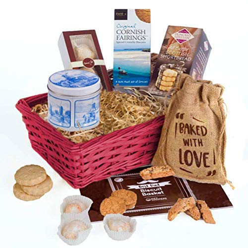 Best Dad Biscuit Basket Hamper Gift by Hay Hampers