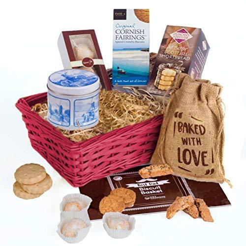 Best Dad Biscuit Basket Hamper Gift by Hay Hampers