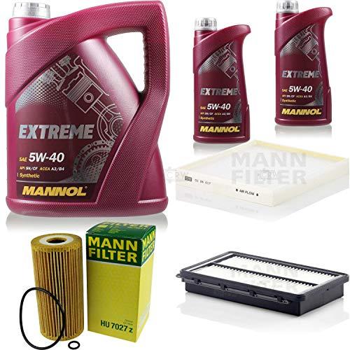 Mannol 7 L Extreme 5W-40 Aceite de motor + filtro MANN KIA Sorento III UM 2.2 CRDi 4WD
