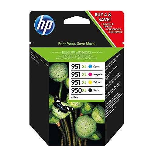 HP Hewlett Packard Tintenpatrone Nr. 950XL/951XL Multipack (BK/C/M/Y) - Passend für Officejet PRO 251, Officejet PRO 251DW, Officejet PRO 276, Officejet PRO 276DW, Officejet PRO 8100, Officejet PRO