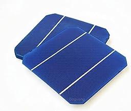 XINPUGUANG 25pcs 156 * 156mm Celda solar fotovoltaica de alta eficiencia monocristalina de silicona 6x6 4.6w 0.5v Grado A para kits de módulos de panel solar de bricolaje