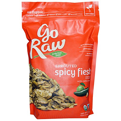 Go Raw, Organic Sprouted Spicy Fiesta Seeds with Celtic Sea Salt, 16 oz(Pack of 2)