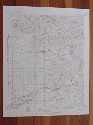 Florence Arizona 1955 Original Vintage USGS Topo Map