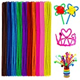 Anvin Pipe Cleaners 100 Pcs 10 Colors Chenille Stems for DIY Crafts Decorations Creative School Projects (6 mm x 12 Inch, Assorted Bright Colors)