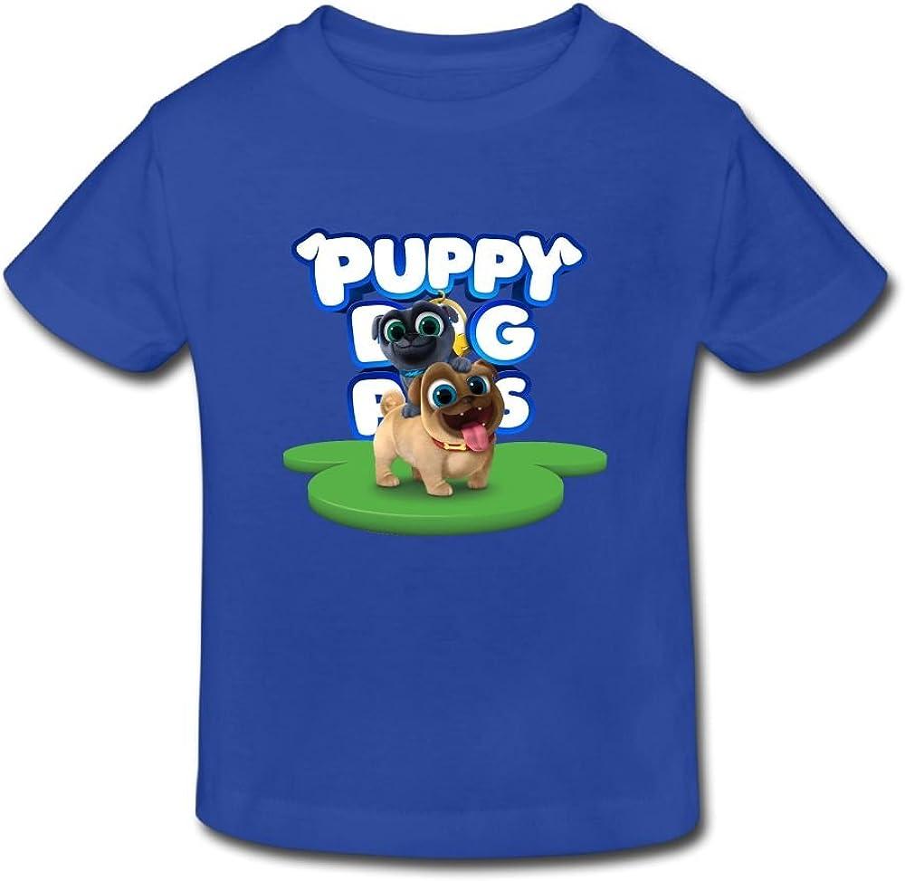 Puppy Dog Lovely Pals Unisex Kids Novelty Short Sleeve Tank Top Cotton T-Shirt White
