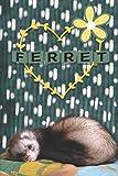 Ferret: Notebook Journal Notepad Blank Wide Ruled Line Paper To Write In for Kids Women Teens Cute Ferret Lovers Gift