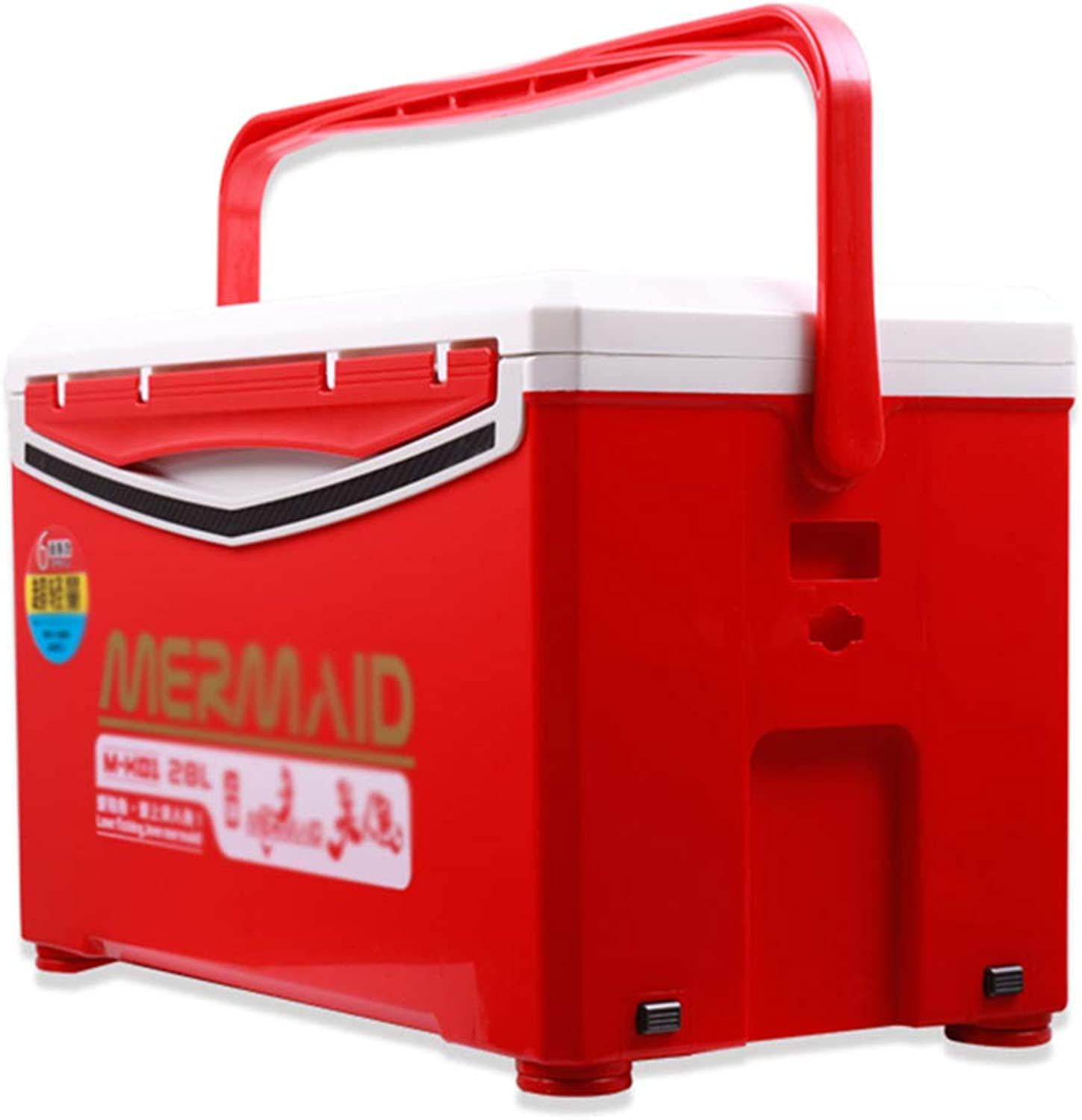 Tackle Boxes Fishing Box Fishing Tackle Boxes MultiFunction Fishing Box Cooler Box Storage Box 28 Liters Capacity Gift (color   Red, Size   52  32  30cm)