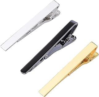 JAWSEU Slipsklämma för män, klassisk slipstång för män, slipsnål, slipsnål för män, lämplig för bröllopsdag affärer och va...