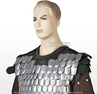 Medieval Gears Brand Large Size Medieval Scale Body Armor 20G Steel with Leather Liner LARP Costume