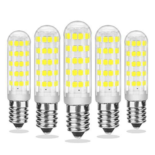 E14 LED Dimmbar, Kaltweiß 6000K, 7W LED Birne E14, Ersetzt 70W Halogenlampe, Mini E14 LED-Kapselbirne für Kronleuchter, AC 220-230V, 540LM, CRI> 85, Kein Flimmern, 5er Pack, CHEERBEE