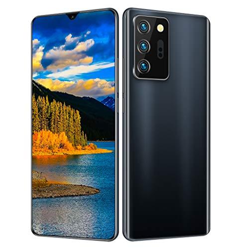 "PNAYK NOTE21U Smartphone ohne vertrag Android 10 Handy mit 8GB + 128GB, 6.6\"" FHD+ Ultra FullView Display, 18MP+48MP Dreifache Kamera, 5000mAh Akuu, NFC, Dual SIM Handy,Schwarz"