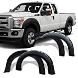 LEDKINGDOMUS Premium Fender Flares Compatible for 1999-2007 Ford F250 F350 Super Duty Styleside Bed Models, Textured Matte Black Finish Front Rear Wheels Pocket Rivet Style