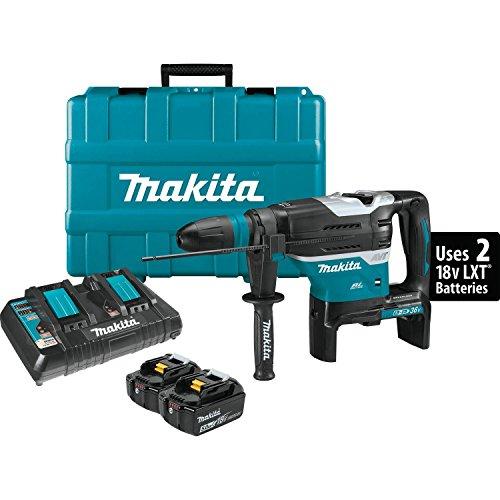 Makita XRH07PTU 18V x2 LXT Lithium-Ion (36V) Brushless Cordless 1-9/16' Advanced AVT Rotary Hammer Kit, Accepts Sds-Max Bits, Aws (5.0Ah)