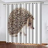 YTSDBB Cortinas Dormitorio Erizo Animal Ancho 150 x Altura 166 cm Salón Dormitorio Opacas Proteccion Intimidad Aislantes Térmicas Cortinas Ventanas para 100% Poliester 2 Pieza