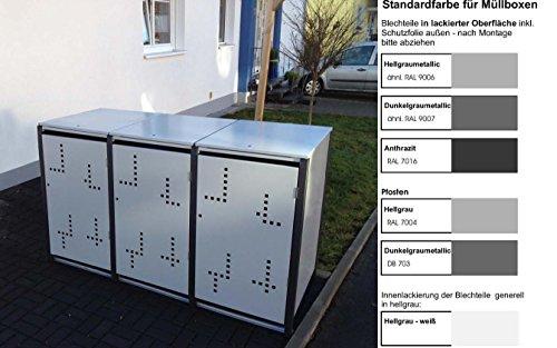 Metalltechnik Dermbach GmbH Mülltonnenverkleidung Mülltonnenbox Müllboxen Metall