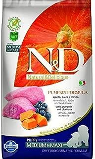 Farmina NandD Grain Free Pumpkin Lamb and Blueberry Puppy Food, 12 kg (Medium and Maxi)