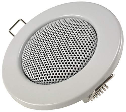 Einbaulautsprecher für Wand & Decke Mini-Lautsprecher Front 8cm Einbau 6cm LED-Strahler Optik Klammer Monntage Unterputz 12Watt Weiß