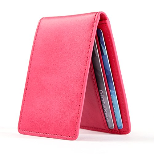 Ultra Slim Mini Size Wallet ID Window Card Case with RFID Blocking – Coffee
