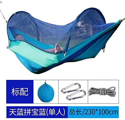 YSCYLY Hamac Portable ultraléger,230 * 100cm avec Chaise Suspendue moustiquaire avec Sac de Voyage,Portable Haute résistance Parachute Hamac