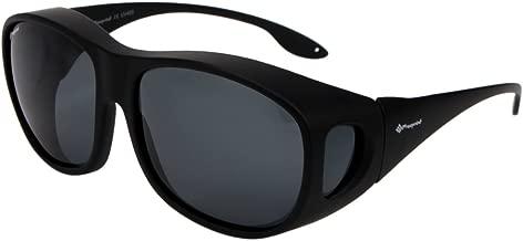 Freeprint Polarized Solar Shield Fit Over Glasses Driving Sunglasses for Men and Women