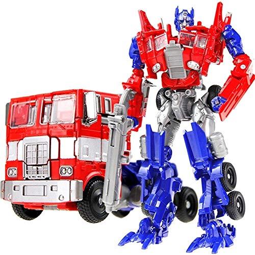 Transformers Toys-Transformers Optimus Prime Aleación Optimus Prime Figuras Modelo Colección Juguetes Vehículo Coche Deform Robot Optimus Prime Action Figura para los niños pequeños Regalos de cumplea