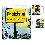 Kraichtal - Einfach die geilste Stadt der Welt Kaffeebecher Tasse Kaffeetasse Becher mug Teetasse Büro Stadt-Tasse Städte-Kaffeetasse Lokalpatriotismus Spruch kw Neuenbürg Bruchsal Münzesheim