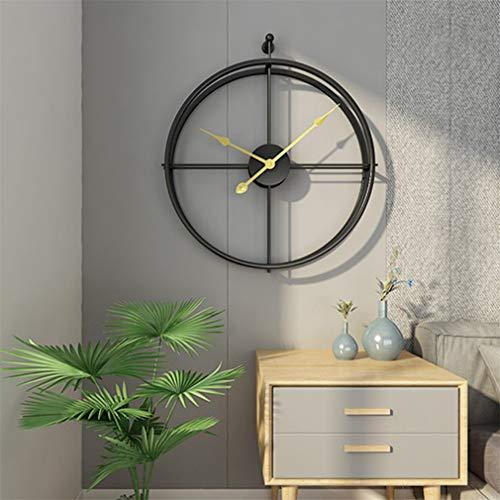 LHY NEWS Orologio da Parete Design, Grande Orologio da Parete Silenzioso dal Design Moderno per L'home Office,Nero,52cm