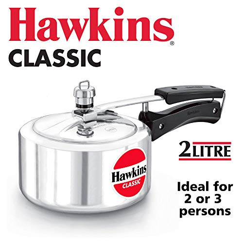 Hawkin Classic CL151.5litros olla a presión de aluminio nuevo mejorado, pequeño, Plata 2-Liter plata