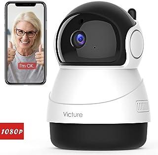 Victure 1080P Cámara IP WiFiCámara de Vigilancia FHD con Visión Nocturna Detección de MovimientoAudio de 2 Vías 2.4GHz WiFi Compatible con iOS/Android