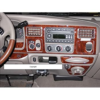 Amazon Com Ford F 250 F 350 F250 F350 2005 2006 2007 Interior Burl Wood Dash Trim Kit Set Automotive