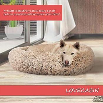 Puppy Love Panier Chien, Coussin Chien Anti Stress XXXL Dehoussable, Paniers Et Mobilier pour Chiens, Orthopedique Lit Apaisant Comfy pour Chien, Améliorer Le SommeilBrown-80cm HJHY