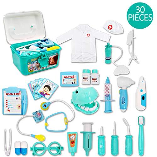 deAO Kinder Arzt Spielset. Mit vielen Zubehör für unvergessliche Spielstunden Spielzeug für Jungen und Mädchen