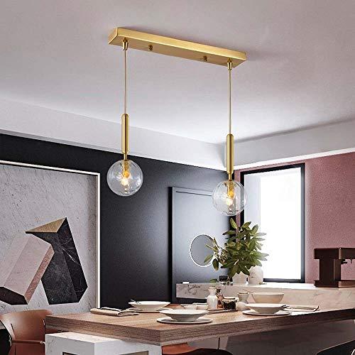 Bradoner Lámpara de noche moderna minimalista para interiores con esfera de cristal doble de cristal, 60 cm x 35 cm