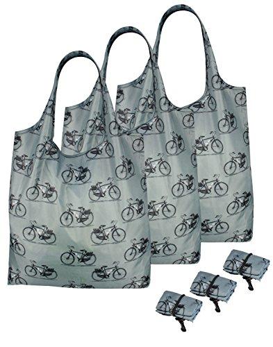 Paquete de 3re-UZ Lifestyle compradores plegable reutilizable de la compra bolsas de...