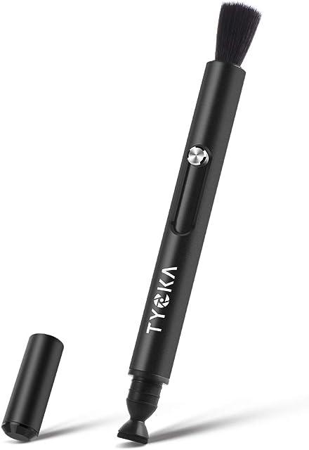 TYCKA Lens Cleaning Pen Lápiz Limpiador para Objetivos y filtros Cámara Cepillo de Limpieza para Pantalla LCD para DSLR Filtro Gafas Material de Aluminio de la aviación Negro